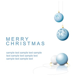 christmas bulbs vector image