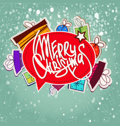 christmas elements collection vector image
