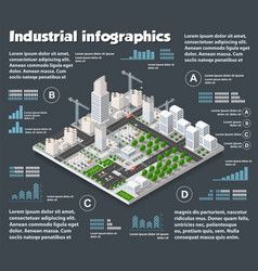 City isometric industry vector