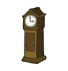 comic cartoon grandfather clock vector image