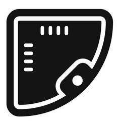Corner jacuzzi icon simple style vector