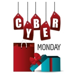 Cyber monday shopping season design vector image