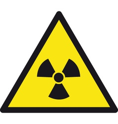 danger radioactive safety sign vector image