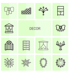 decor icons vector image