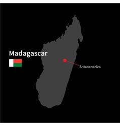 Detailed map madagascar and capital city vector