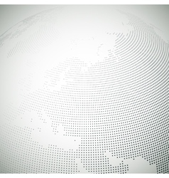 Dotted world globe light design vector image