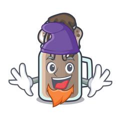 elf milkshake character cartoon style vector image