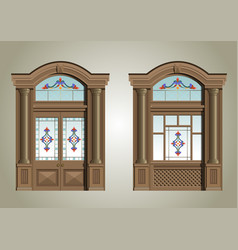 entrance portal vector image