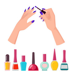 fingernails and polish poster vector image