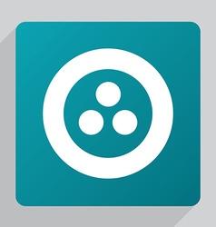 Flat circle diagram icon vector