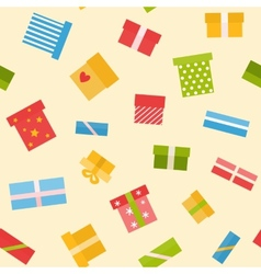 Flat seamless pattern with presents vector image