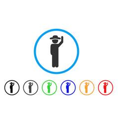 gentleman hello rounded icon vector image