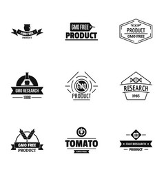 Gmo resistance logo set simple style vector