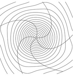 Grid mesh with distortion rotating spiral mesh of vector