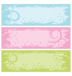 Grunge banners swirls illustration vector