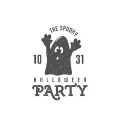 halloween label template text - vector image