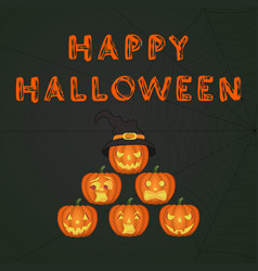 happy halloween jack-o-lantern party vector image