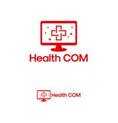 Health computer logo designs concept computer vector