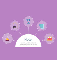 hotel services fast access on website template vector image