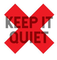 Keep it quiet stamp vector