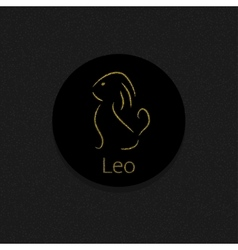 Leo Zodiac sign vector