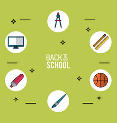 Light green background poster of back to school vector