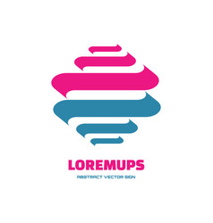 loremups - business logo template concept vector image