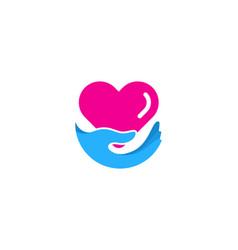 Love care logo icon design vector