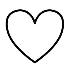 love heart white background thick line vector image