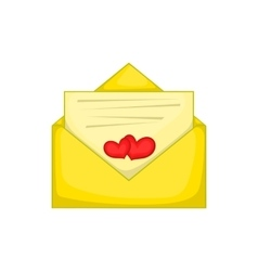 Love letter icon cartoon style vector