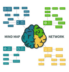 mind map infographic abstract brain thinking vector image