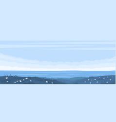 monochrome blue seascape vector image