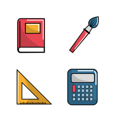 notebook school tools icon vector image