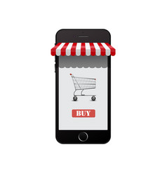 Online shop on smart phone vector