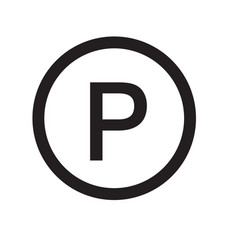 Parking icon on white background parking sign vector