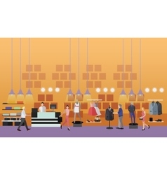 People shopping in a mall concept Fashion clothes vector