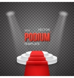 Photorealistic Winner Podium Stage vector image