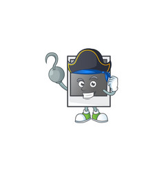 Pirate empty polaroid photo frame wearing hat vector