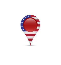 Polling place location marker us presidential vector
