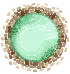 Pond top view vector