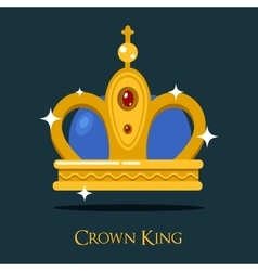 Pope triada or kings crown golden monarch symbol vector