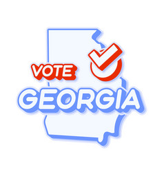 Presidential vote in georgia usa 2020 state map vector
