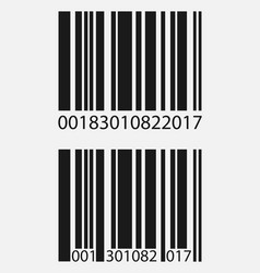 Realistic barcode icon isolated on grey vector