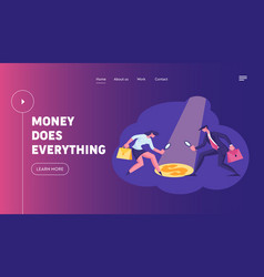 Searching income and profit issues website landing vector