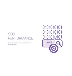 seo performance web banner with copy space vector image