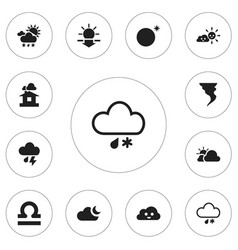 set of 12 editable air icons includes symbols vector image