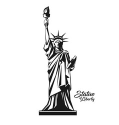 Statue liberty usa design black and white vector