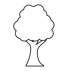tree plant forest monochrome isolated icon vector image