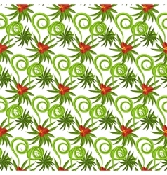 Tropical grass field seamless pattern vector