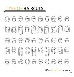 Type of haircuts vector
